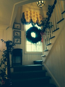 wreath staircase