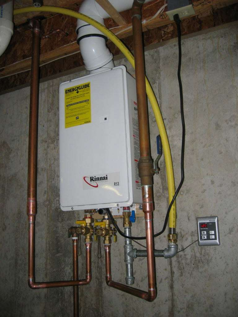 Space and Energy Saving Tankless Hot Water Heater