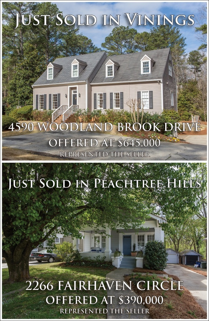 sold in Vinings and Peachtree Hills