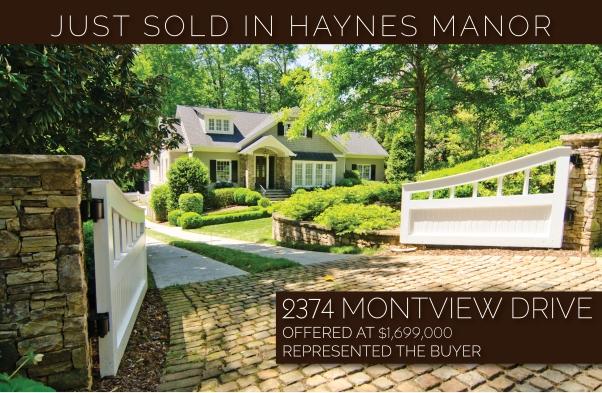 Lesa Bell just sold Haynes Manor buckhead