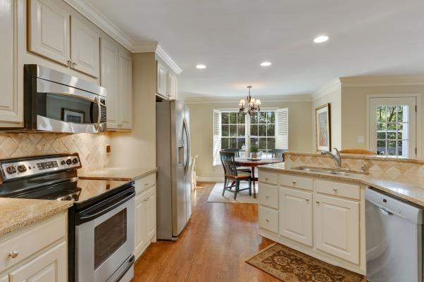 Kitchen view to breakfast